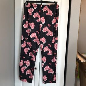 TopShop Rose Print Sleep Pants